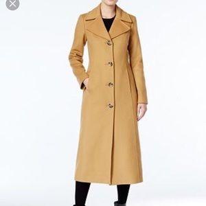 Anne Klein Long wool cashmere blend coat